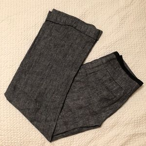 Anthropologie Elevenses wide leg grey trousers